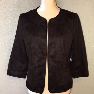 New! East 5Th Dark Brown Suede Like Jacket Size M